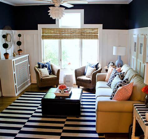 navy room navy and white board batten living room design