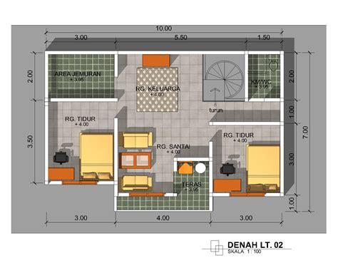 update desain denah rumah minimalis ukuran 6 x 8 meter woods
