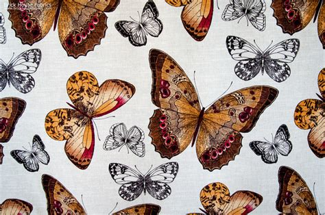 butterfly upholstery fabric butterfly fabric toile fall orange brown eclectic