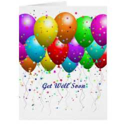 get well soon balloons large greeting card zazzle