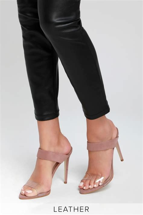 Steve Madden Amaya Heel by Steve Madden Amaya Blush Nubuck Leather Heels Heeled Sandals