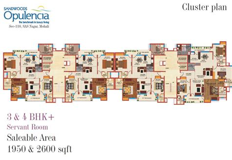 Best 2 Bhk House Plan Floor Plans 3bhk 4 Bhk Mohali Apartments Sandwoods Opulencia