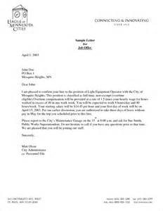 letter of offer template offer letter templates sles and templates