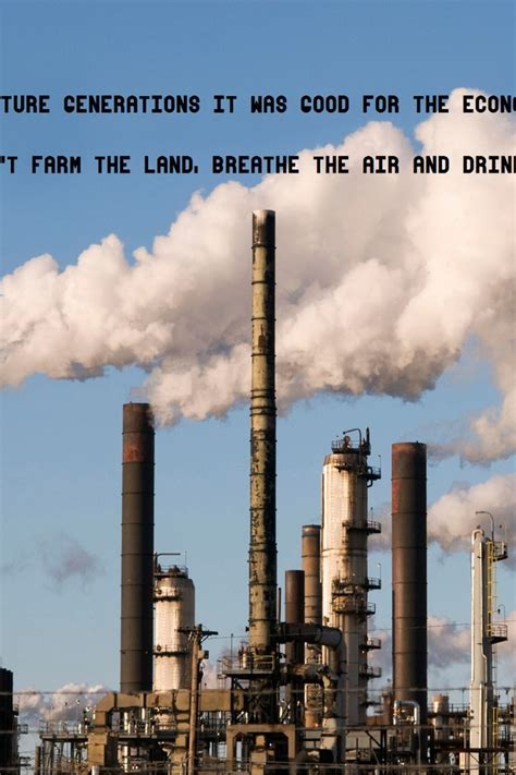 factories industrial plants pollution quotes text