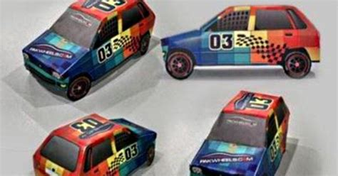 Nascar Papercraft - papermau suzuki mehran nascar edition paper model by