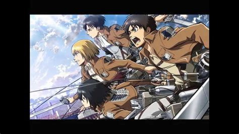 theme line attack on titan attack on titan opening theme song 15 minutes youtube