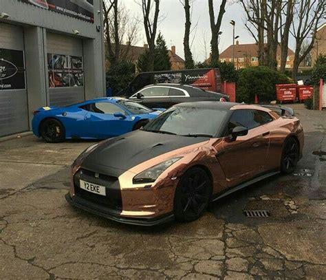 rose gold chrome wrap nissan gtr car wheels ford