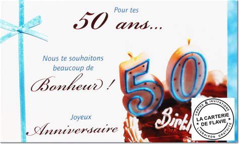 carte anniversaire 50 ans livraison gratuite