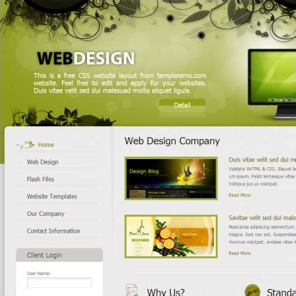 templates for web design web design free website templates in css html js format
