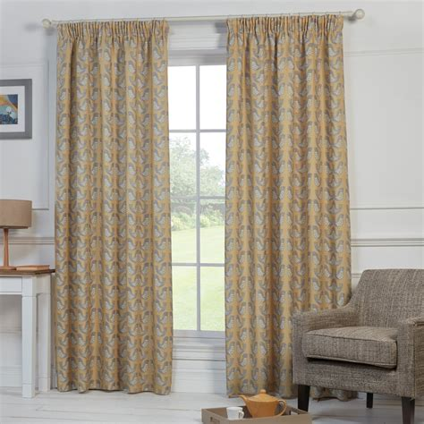 bird curtains uk nordic birds mustard yellow ready made curtains closs