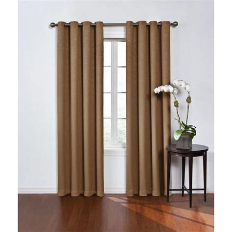 blackout curtains grommet eclipse blackout round and round latte polyester grommet