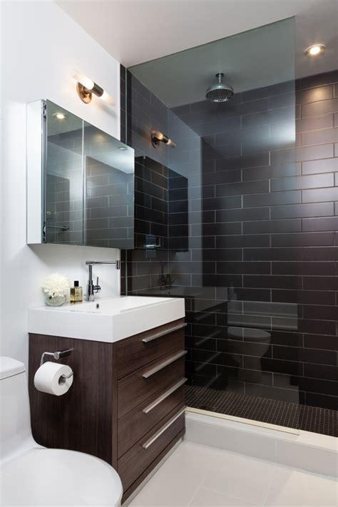 smart bathroom ideas small loft bathroom interior with brown tile wall part of