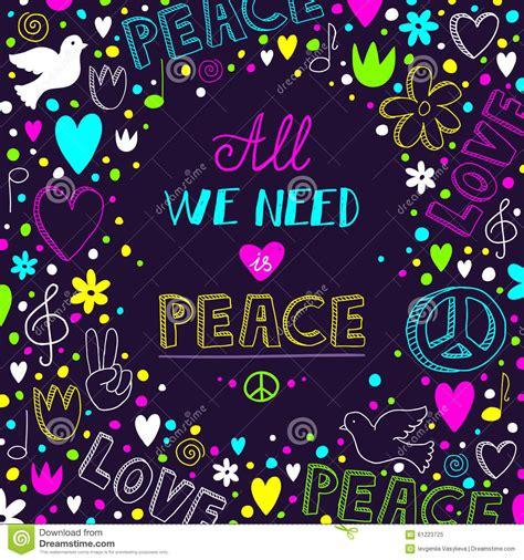 Purple Wall Mural vector dark purple love and peace theme background stock