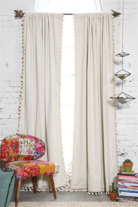 urban curtains blackout pompom curtain witches urban outfitters and stitch