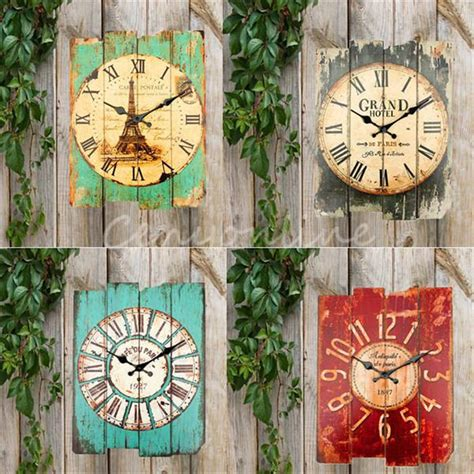 vintage rustic home decor brand new retro vintage rustic wall clock shabby chic home