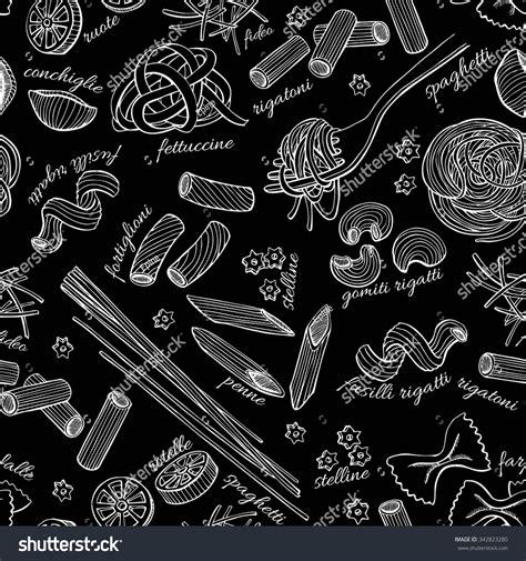 vector italian pasta pattern stock illustration vector hand drawn pasta pattern vintage line art