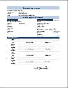 Account Application Form Template Word by Credit Application Form Template Word Excel Templates