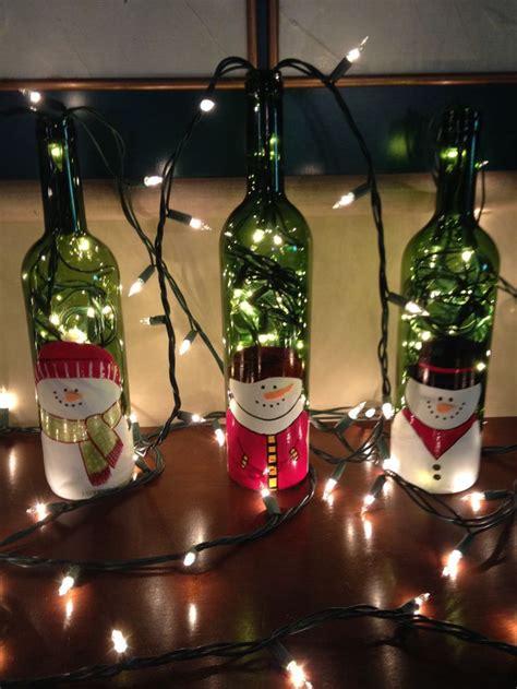 imagenes navidad y vino reciclando botellas de vino para decorar navidad pinterest