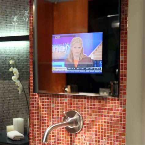 tv in the mirror bathroom tv in bathroom mirror for the home pinterest