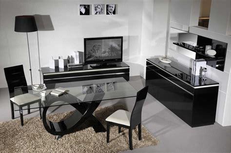 Table Salle A Manger Vintage 232 by Salle 224 Manger Compl 232 Te Moderne Noir Laqu 233