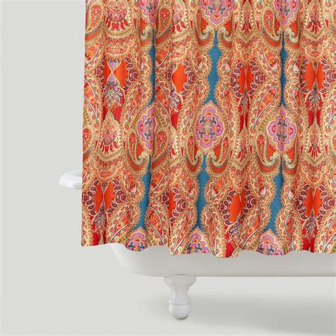 bright colorful shower curtains capital a fresh start shower curtains bright bold