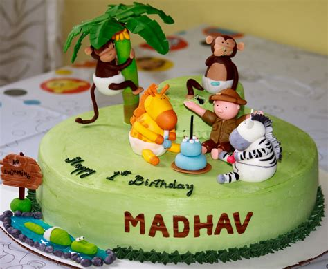 jungle themed birthday cake baked in heaven