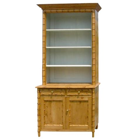 pine faux bamboo bookcase at 1stdibs