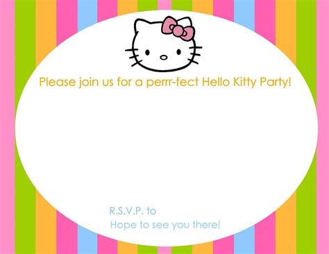 free printable colorful hello kitty invitation template