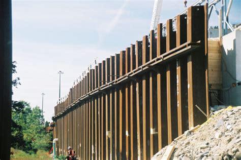 interstate 495 temporary detour tiebacks and steel sheet