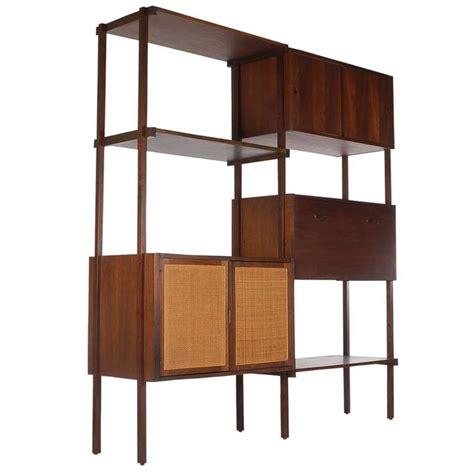 mid century modern danish style wall unit or book shelf in
