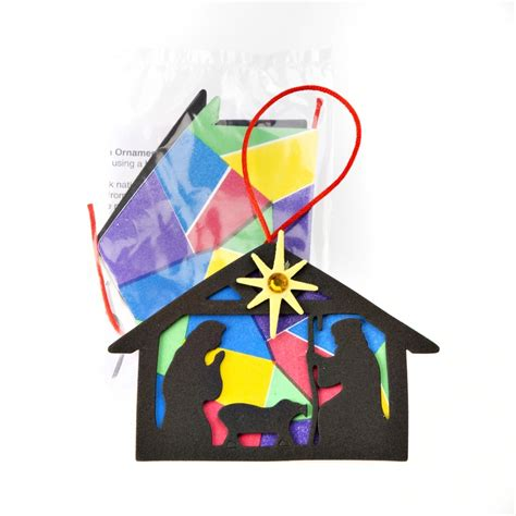 nativity silhouette christmas decoration kit stained
