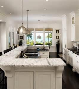 u shaped kitchen island the design of this island bi level u shaped island
