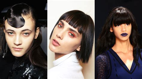 Hairstyles With Bangs 2017 by Fall Winter 2017 Hairstyles From Runways Hairdrome
