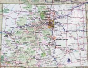 large detailed roads and highways map of colorado state