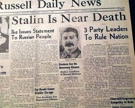 Joseph Stalin R Newspapers M