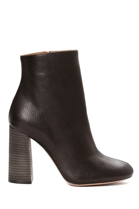 chlo 233 leather ankle boot in black lyst