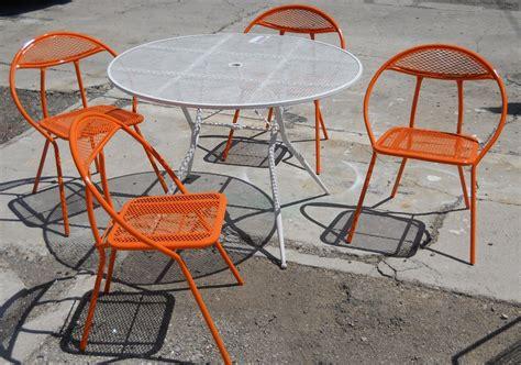 Retro Patio Table Vintage Outdoor Furniture Set Modern Patio Outdoor