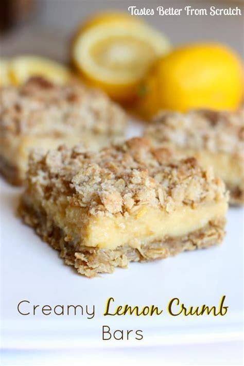 lemon bars with crumb topping creamy lemon crumb bars