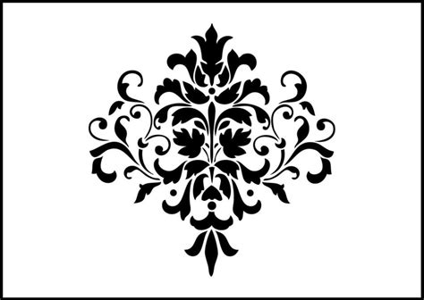 damask shabby chic stencil laser craft design
