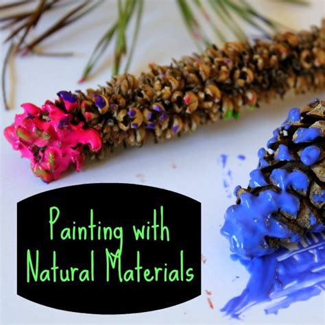 easy nature crafts for painting with materials a great nature craft for