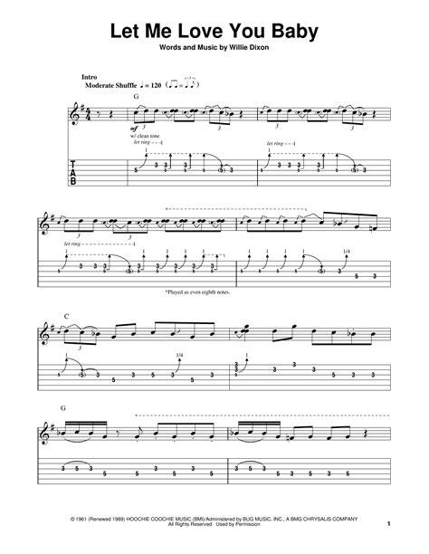 love  baby  stevie ray vaughan easy guitar tab guitar instructor