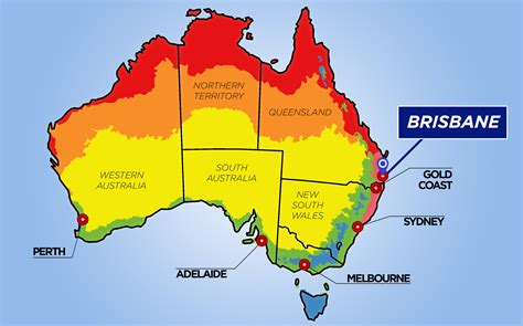 australia map brisbane brisbane weather images