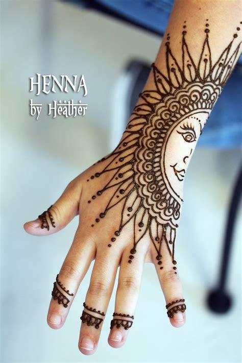 henna design sun henna hand sun permission granted henna by heather