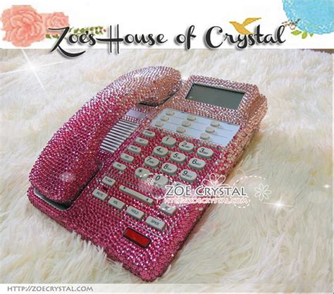 bling and sparkly pink office desk phone to ensure a