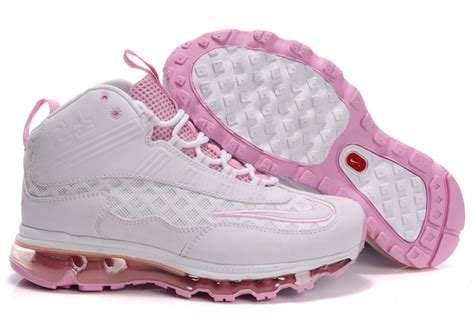 nike womens griffeys air max jr all white pink ken griffey