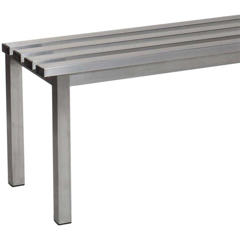 stainless steel bench aqua mezzo freestanding changing room benches ese direct