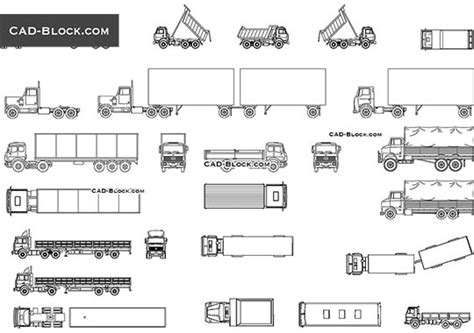 truck templates for autocad cad blocks free download