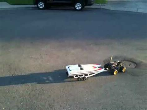 rc truck pulling boat rc truck pulls boat on trailer doovi