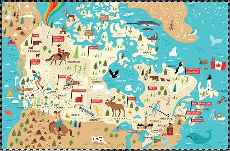 tourist map of canada i draw maps illustrated map of canada for telegraph uk by