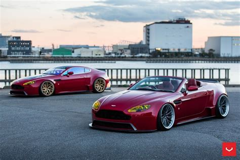 slammed aston martin slammed widebody aston martin vantage the
